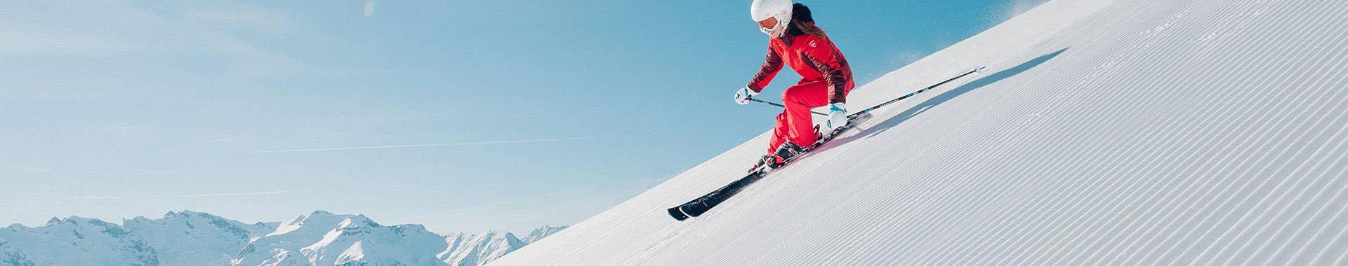 On piste skis