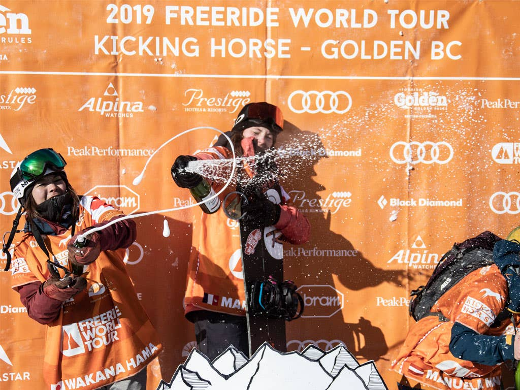 Second stop of the Freeride World Tour: Marion Haerty wins, Logan Pehota is third!